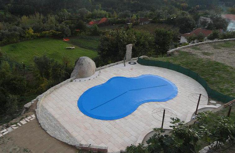 Cobertura para piscina de Inverno